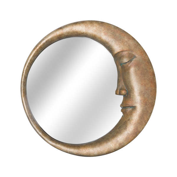 Man in the Moon Mirror in an Antique Gold Finish