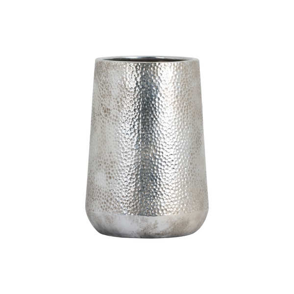 Metallic Ceramic Tapered Vase