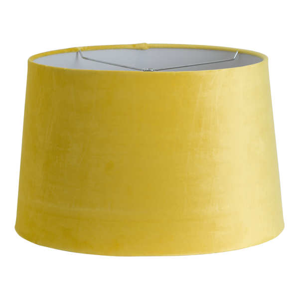 Mustard Velvet Shade With Harp Fitting