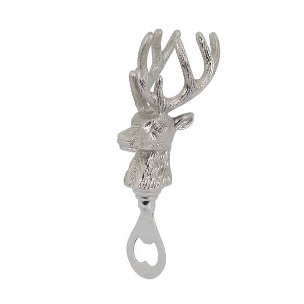 Nickel Stag Head Bottle Opener
