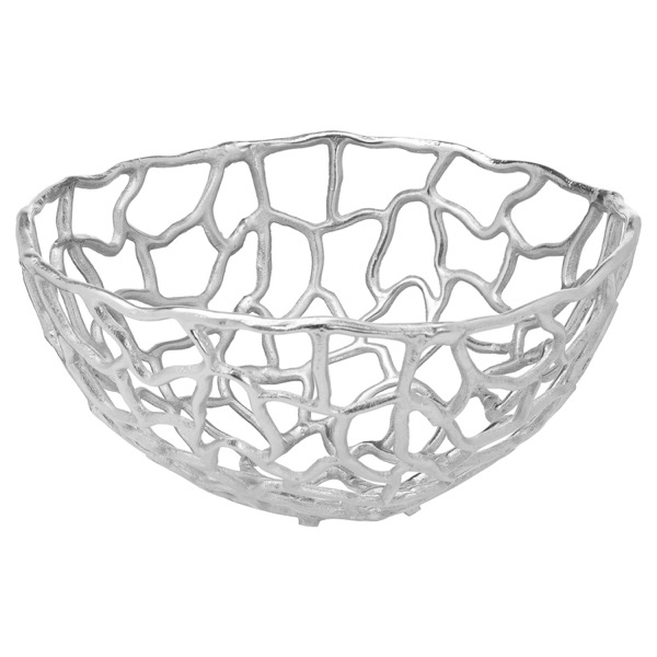 Ohlson Silver Perforated Coral inspired Bowl Large