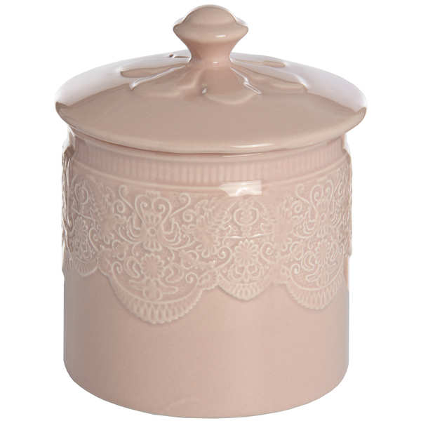 Peach Porcelain Storage Trinket Jar