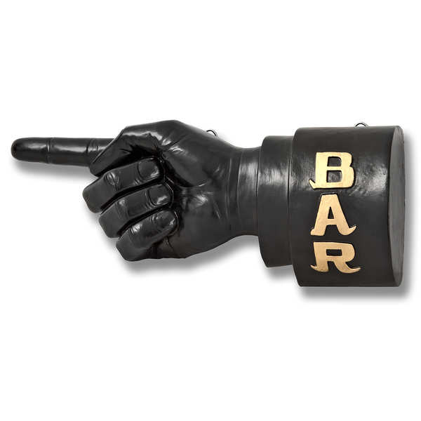 Pointing Hand In The Direction Of The Bar