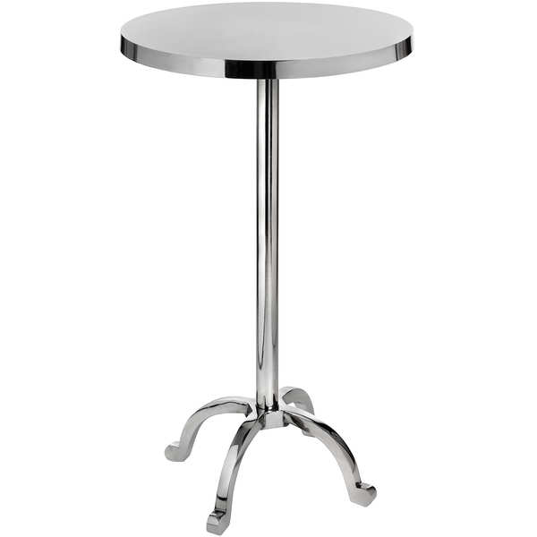 Polished Nickel Cocktail Bar Table