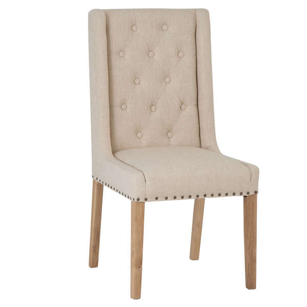 Roseberry Collection Fabric Dining Chair - Beige