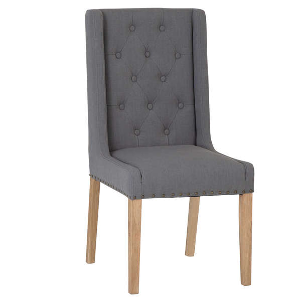 Roseberry Collection Fabric Dining Chair - Grey