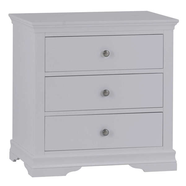 Sandbanks Collection Grey 3 Drawer Chest of Drawers