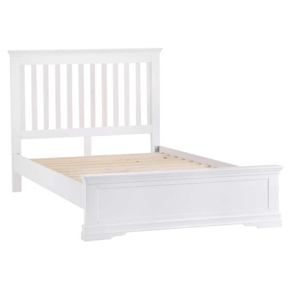 Sandbanks Collection White King-size Bed Frame