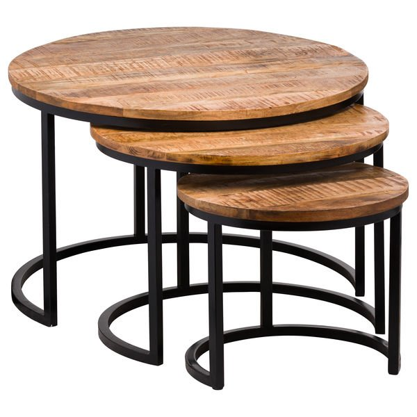 Set Of Three Industrial Tables