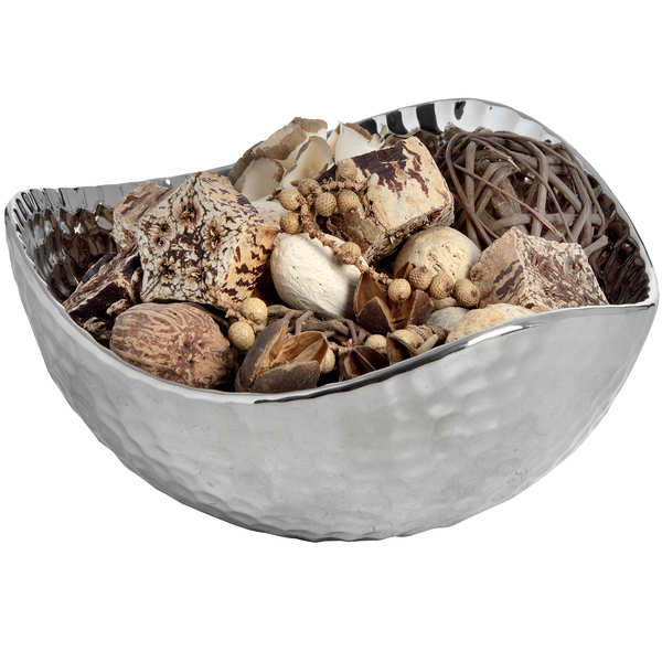 Silver Ceramic Dimple Effect Display Bowl - Small