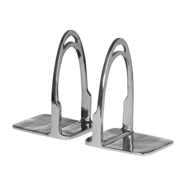 Stirrup Bookends In Polished Nickel