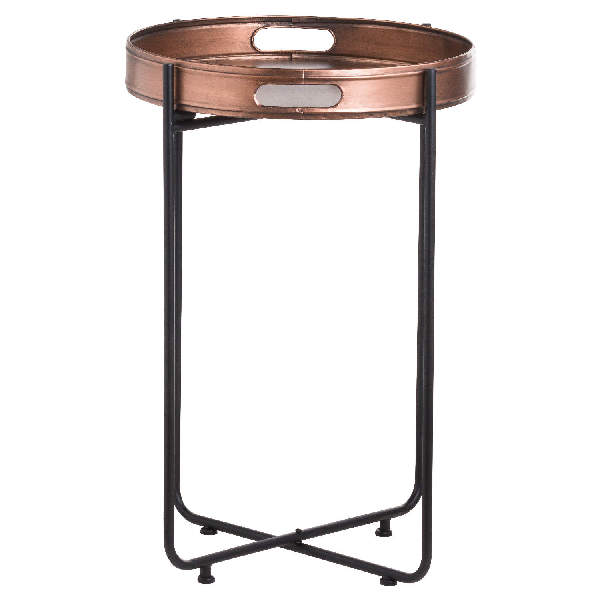 Tall Copper Tray With Stand