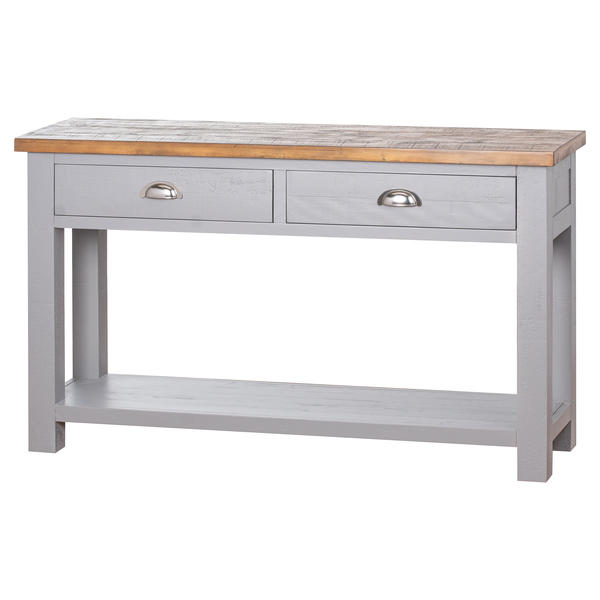 The Byland Collection Two Drawer Console Table With Shelf