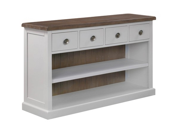 The Hampton Collection Four Drawer Low Bookcase