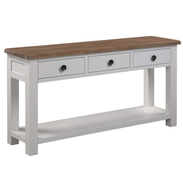 The Hampton Collection Three Drawer Console Table