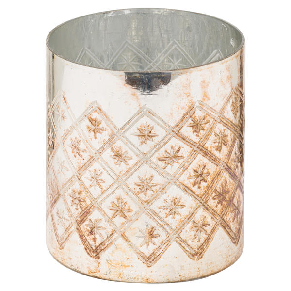 The Noel Collection Burnished  Pillar Candle Holder