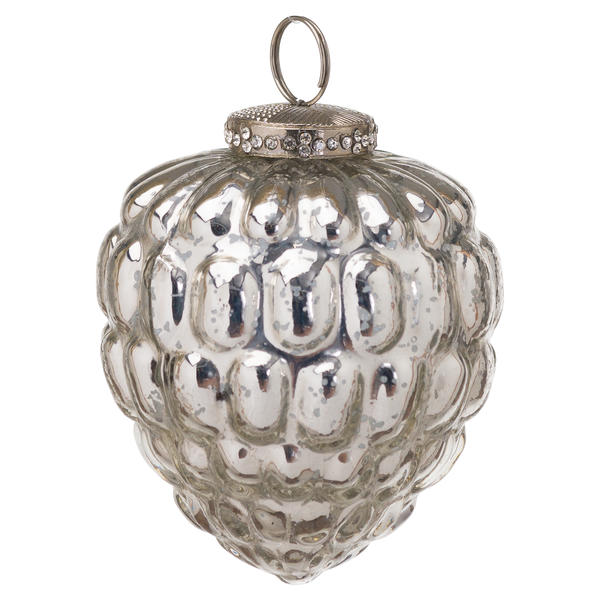 The Noel Collection Silver Acorn Hanging Bauble