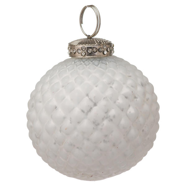 The Noel Collection White Christmas Bauble