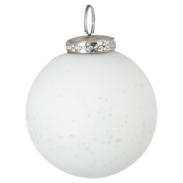 The Noel Collection White Crackled Bauble