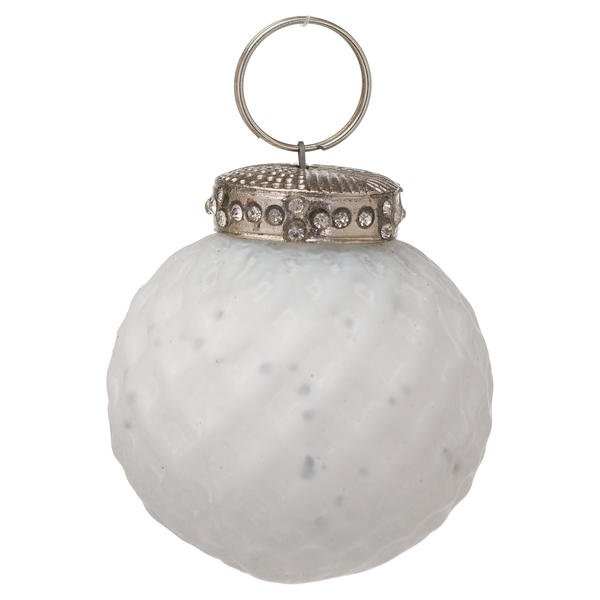 The Noel Collection White Small Honeycomb Bauble
