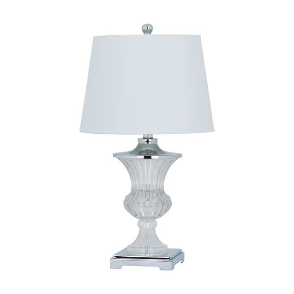 The Truro Crystal Table Lamp with Chrome Base