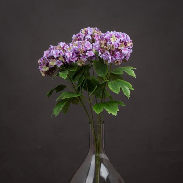 Vibrant Purple Viburnum Style Spray