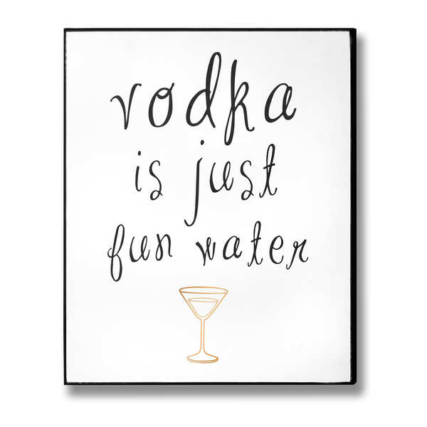 Vodka Plaque