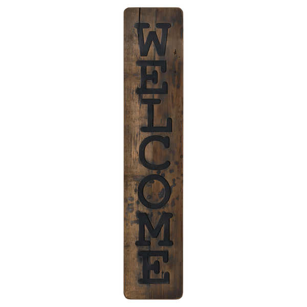 Welcome Large Rustic Wooden Message Plaque