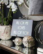 Image 2 - All Of Me Loves All Of You Gold Foil Plaque