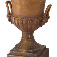 Image 2 - Antique Gold Large Outdoor Urn Planter