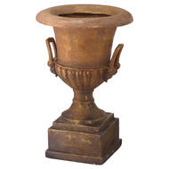 Image 1 - Antique Gold Large Outdoor Urn Planter