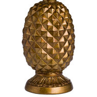 Image 2 - Antique Gold Pineapple Lamp With Mustard Velvet Shade
