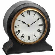 Antique Mantel Clock with Gold Rim