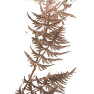 Image 2 - Antique Silver Faux Fern Garland