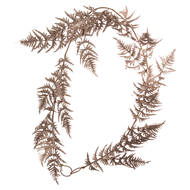 Image 1 - Antique Silver Faux Fern Garland