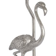 Image 2 - Antique Silver Flamingo Lamp With Coral Velvet Shade