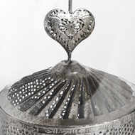 Image 4 - Antique Silver Heart Lantern Spinner