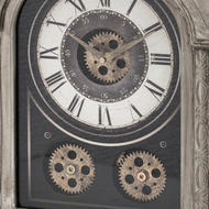 Image 2 - Antique Silver Mechanism Mantle Clock