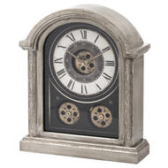 Image 1 - Antique Silver Mechanism Mantle Clock