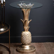 Image 3 - Ashby Gold Pineapple Side Table