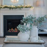 Image 4 - Astor Distressed Large Mirrored Tray With Wooden Detailing
