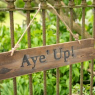 Image 6 - Aye' Up Rustic Wooden Message Plaque