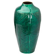 Image 1 - Aztec Collection Brass embossed Ceramic Dipped Urn Vase