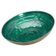 Image 1 - Aztec Collection Brass Embossed Ceramic Large Bowl
