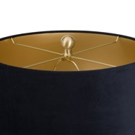 Image 3 - Barbro Table Lamp With Black Velvet Shade