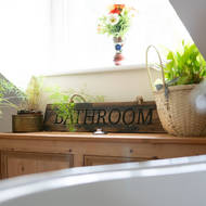 Image 2 - Bathroom Rustic Wooden Message Plaque