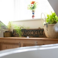 Image 3 - Bathroom Rustic Wooden Message Plaque