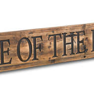 Image 2 - Beware Of The Kids Rustic Wooden Message Plaque