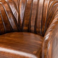 Image 2 - Billy Leather Ribbed Bar Chair