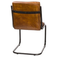 Image 2 - Billy Leather Ribbed Dining Chair